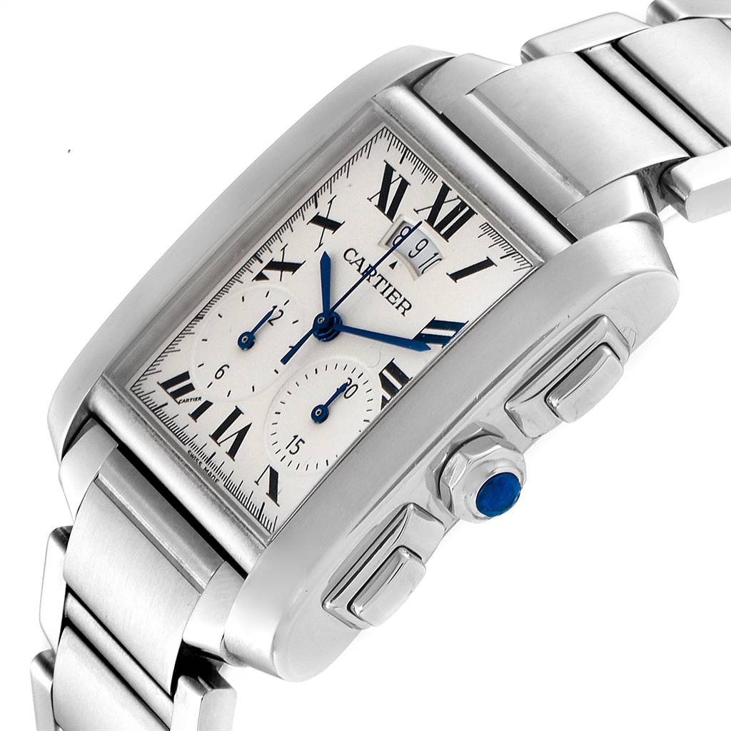 Cartier Tank Francaise Chrongraph Steel Mens Watch W51024Q3 SwissWatchExpo