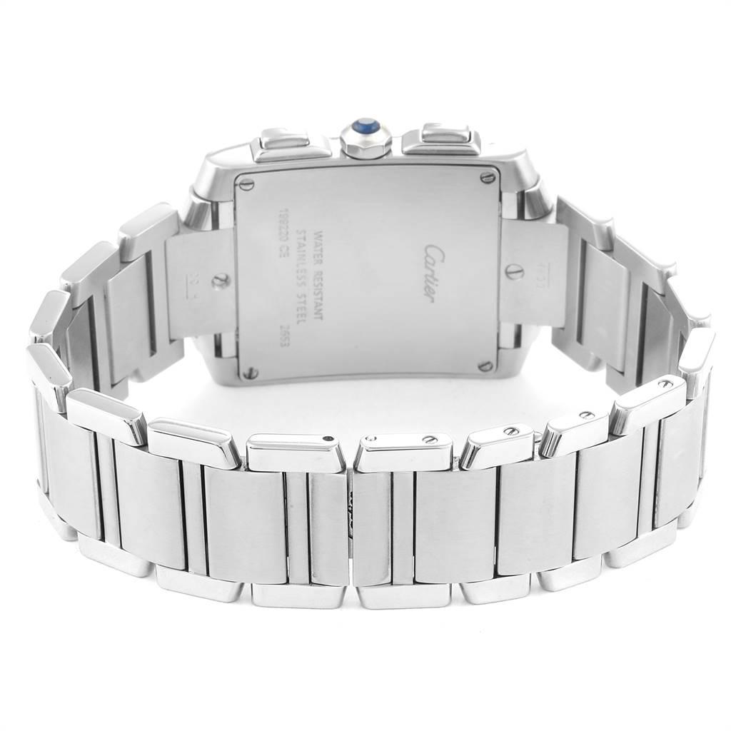 25314 Cartier Tank Francaise Chrongraph Steel Mens Watch W51024Q3 SwissWatchExpo