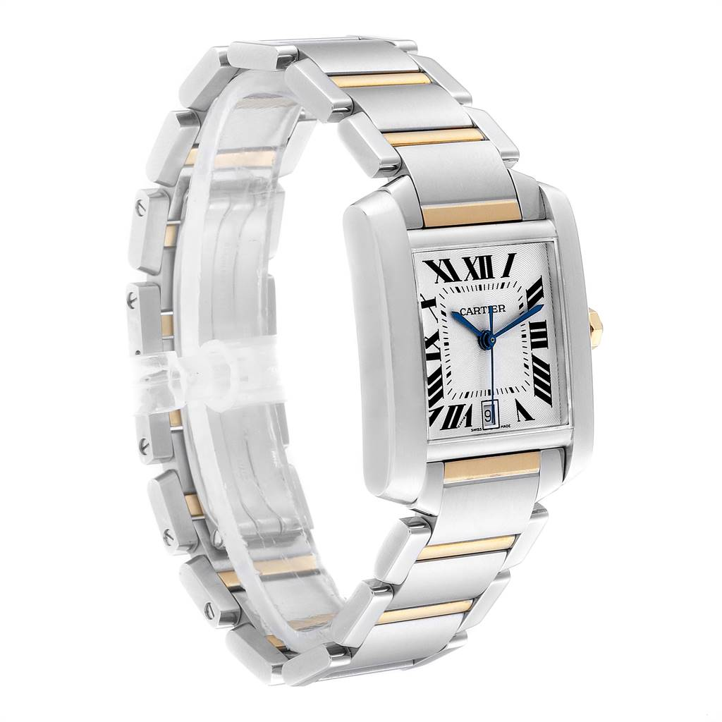 25306 Cartier Tank Francaise Steel Yellow Gold Automatic Mens Watch W51005Q4 SwissWatchExpo