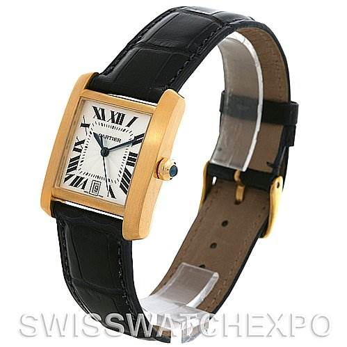 2664 Cartier Tank Francaise Large 18K Yellow Gold W5000156 Watch SwissWatchExpo