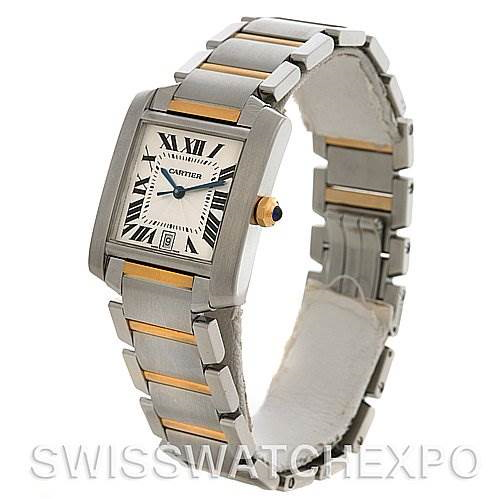 Cartier Tank Francaise Large SS/18K Watch W51005Q4 SwissWatchExpo