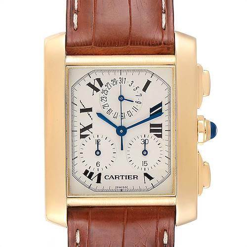 Photo of Cartier Tank Francaise Chronoflex 18K Yellow Gold Watch W5000556