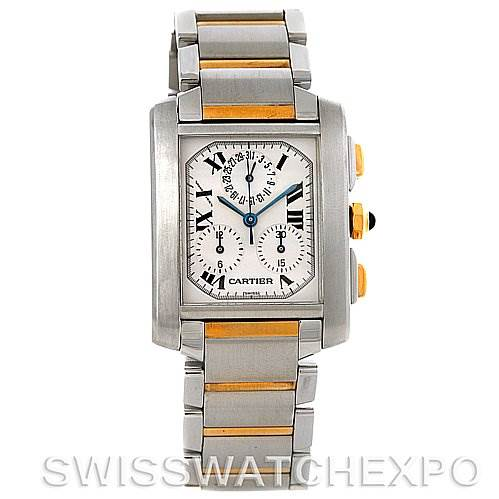 3021 Cartier Tank Francaise Men's Chrongraph Watch W51004Q4 SwissWatchExpo