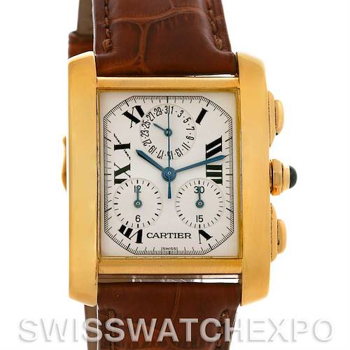 Photo of Cartier Tank Francaise Chronograph 18K Yellow Gold Watch W5000556