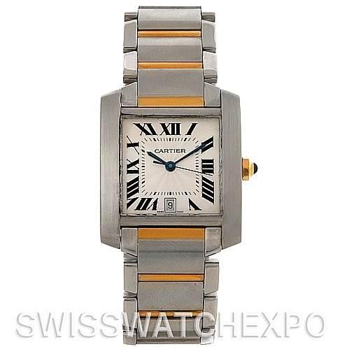 2738 Cartier Tank Francaise Large SS/18K Watch W51005Q4 SwissWatchExpo