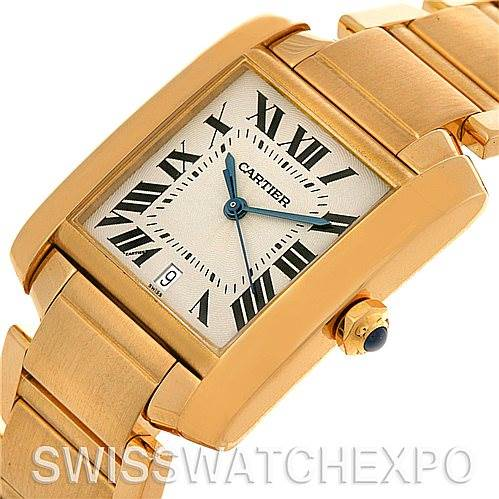 Cartier Tank Francaise Large 18K Yellow Gold Watch W50001R2 SwissWatchExpo