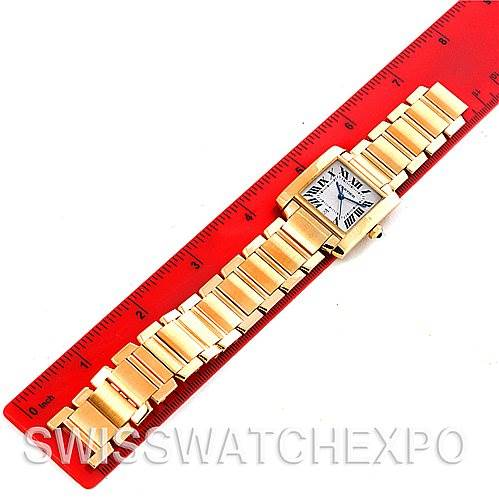 4414 Cartier Tank Francaise Large 18K Yellow Gold Watch W50001R2 SwissWatchExpo