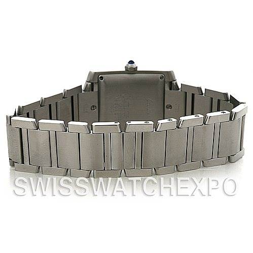 4314 Cartier Tank Francaise Large Steel Watch W51002Q3 SwissWatchExpo