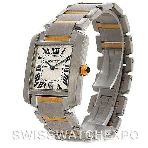 4553 Cartier Tank Francaise Large Steel and 18K Watch W51005Q4 SwissWatchExpo
