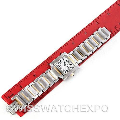 Cartier Tank Francaise Large Steel and 18K Watch W51005Q4 SwissWatchExpo