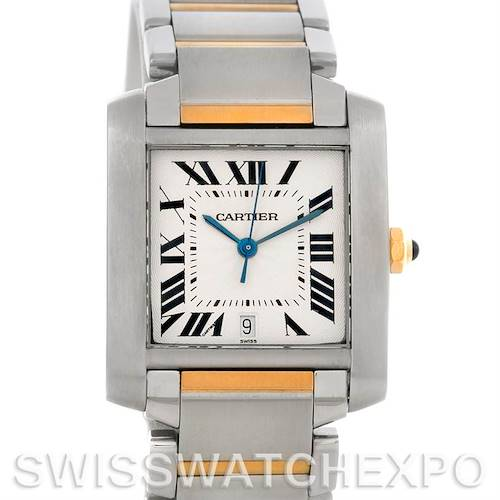 Photo of Cartier Tank Francaise Large Steel and 18K Watch W51005Q4