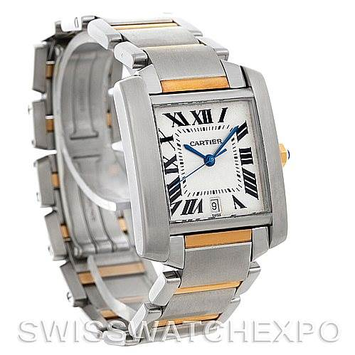 4562 Cartier Tank Francaise Large Steel and 18K Watch W51005Q4 SwissWatchExpo