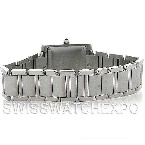 4990 Cartier Tank Francaise Large Steel Watch W51002Q3 SwissWatchExpo