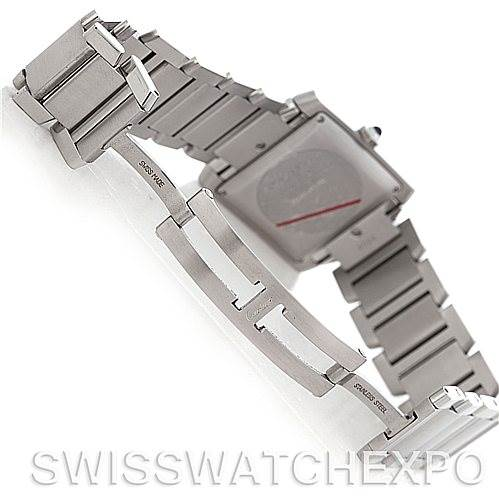 5018 Cartier Tank Francaise Large Steel Watch W51002Q3 SwissWatchExpo