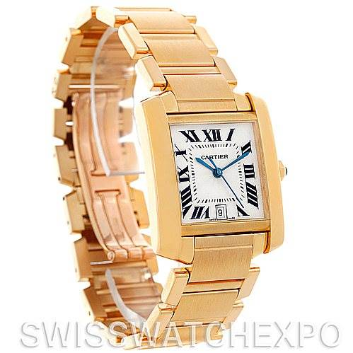 5241 Cartier Tank Francaise Large 18K Yellow Gold Watch W50001R2 SwissWatchExpo