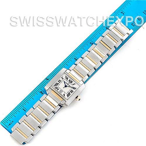 5258 Cartier Tank Francaise Large Steel and 18K Watch W51005Q4 SwissWatchExpo