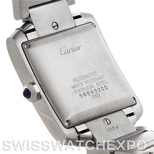 5542 Cartier Tank Francaise Large Steel Watch W51002Q3 SwissWatchExpo