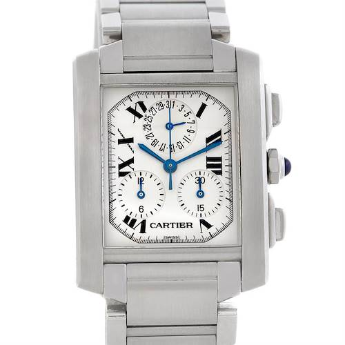 Photo of Cartier Tank Francaise Steel Chronograph Watch W51001Q3