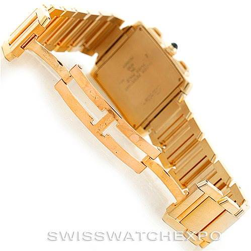 Cartier Tank Francaise Chrongraph 18K Yellow Gold Watch W50005R2 SwissWatchExpo