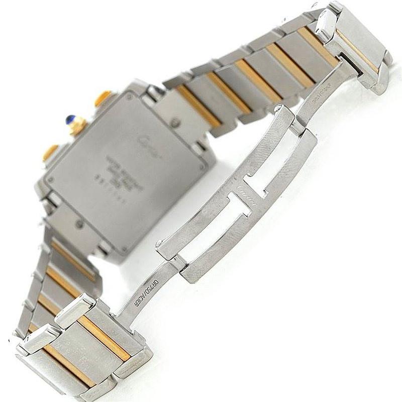 Cartier Tank Francaise Men's Chronograph Watch W51004Q4 SwissWatchExpo