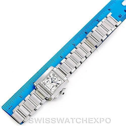 Cartier Tank Francaise Steel Chronoflex Watch W51001Q3 SwissWatchExpo