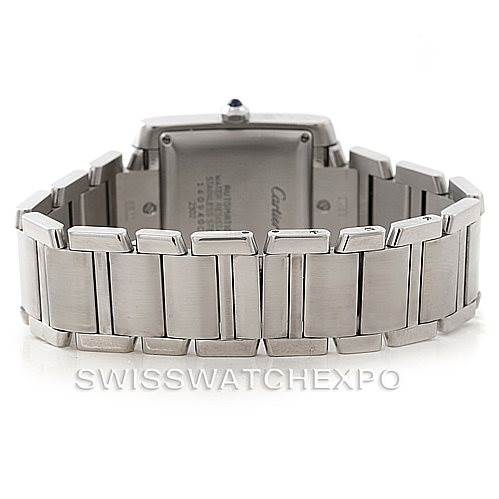 5760 Cartier Tank Francaise Large Steel Watch W51002Q3 SwissWatchExpo