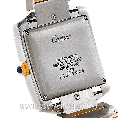 7599 Cartier Tank Francaise Large Steel 18K Yellow Gold Watch W51005Q4 SwissWatchExpo