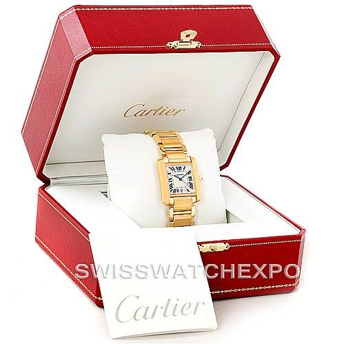 7377 Cartier Tank Francaise Large 18K Yellow Gold Watch W50001R2 SwissWatchExpo