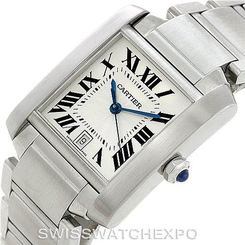 6118 Cartier Tank Francaise Large Steel Watch W51002Q3 SwissWatchExpo
