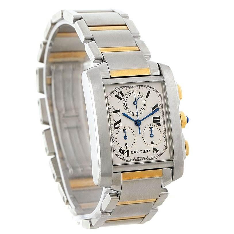 Cartier Tank Francaise Mens Chrongraph Watch W51004Q4 SwissWatchExpo