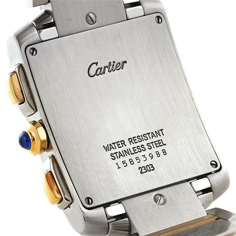 7639 Cartier Tank Francaise Mens Chrongraph Watch W51004Q4 SwissWatchExpo