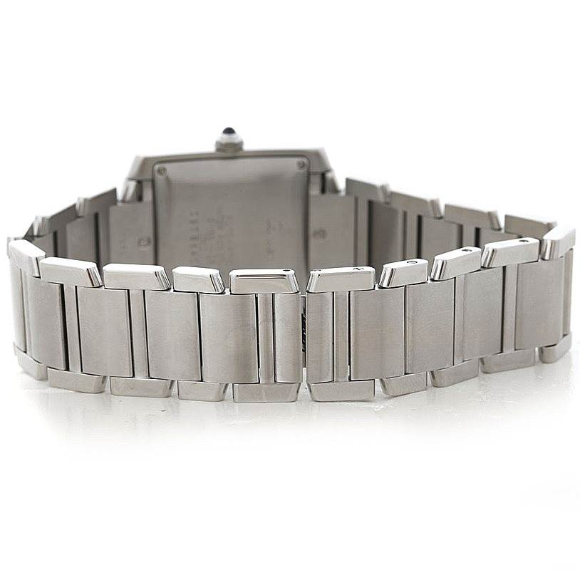 7870 Cartier Tank Francaise Large Steel Watch W51002Q3 SwissWatchExpo