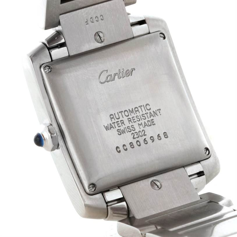 7310 Cartier Tank Francaise Large Stainless Steel Mens Watch W51002Q3 SwissWatchExpo