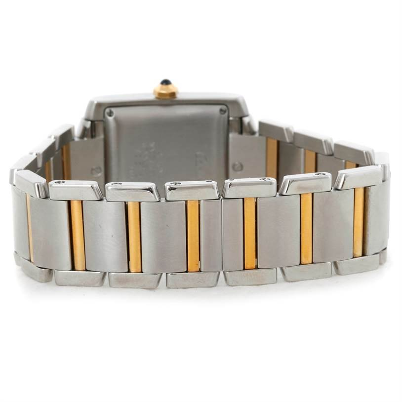 9252 Cartier Tank Francaise Large Steel 18K Yellow Gold Watch W51005Q4 SwissWatchExpo