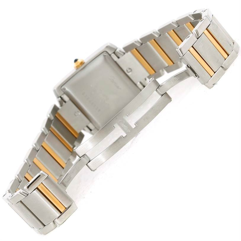 9808 Cartier Tank Francaise Large Steel 18K Yellow Gold Watch W51005Q4 SwissWatchExpo
