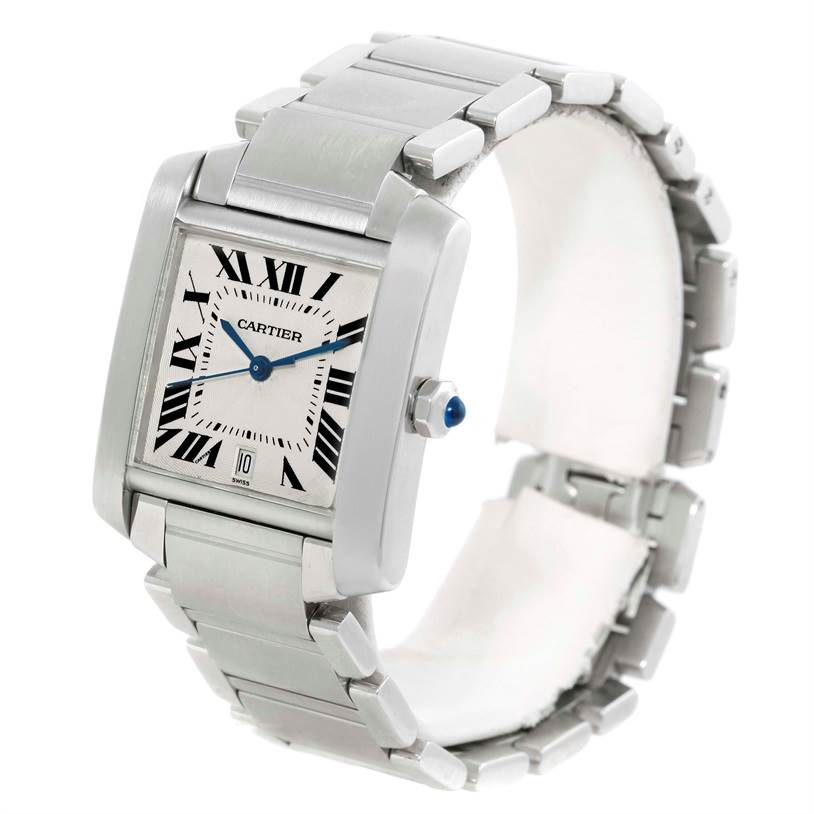 9724 Cartier Tank Francaise Automatic Steel Large Mens Watch W51002Q3 SwissWatchExpo