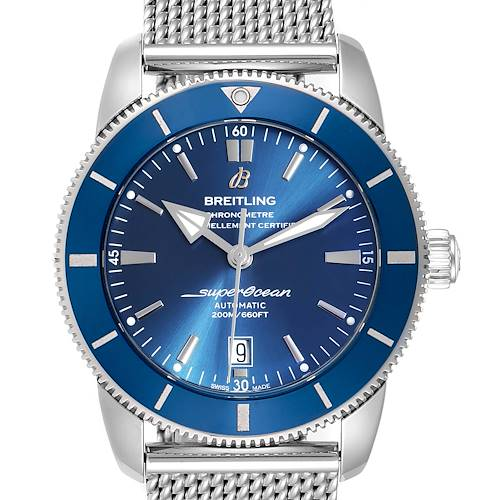 Photo of Breitling Superocean Heritage 46 Blue Dial Mens Watch AB2020 Box Card