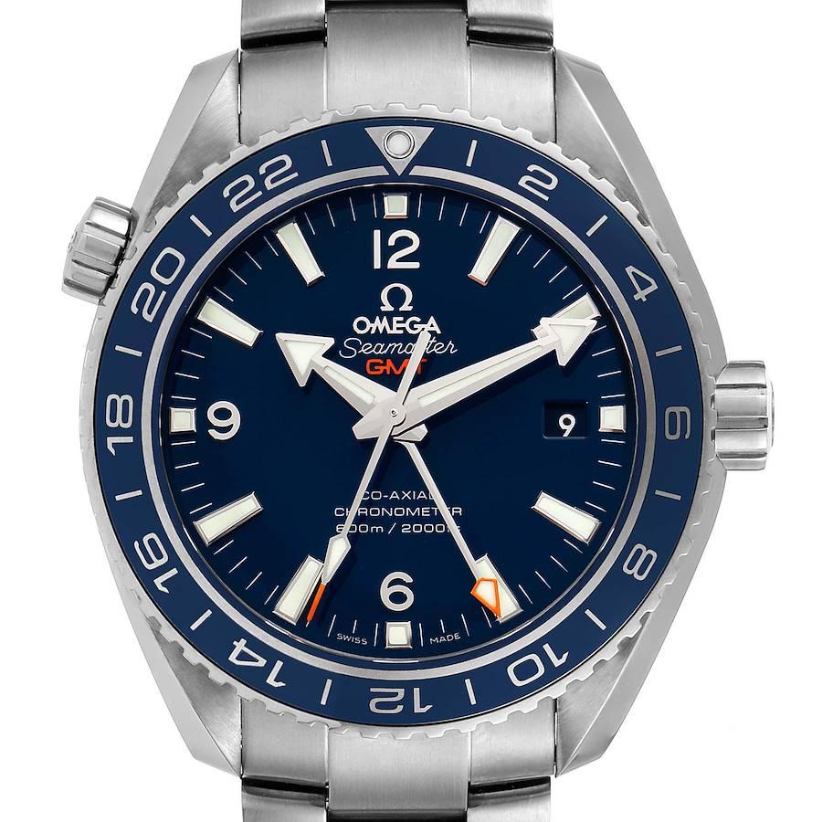 Omega Seamaster Planet Ocean GMT Titanium Watch 232.90.44.22.03.001 Box Card SwissWatchExpo