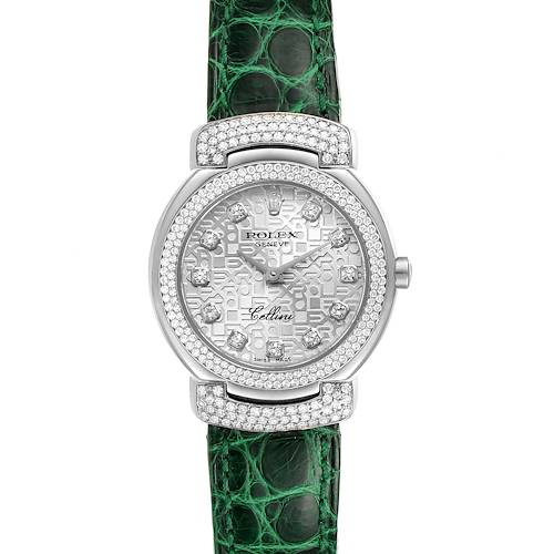 Photo of Rolex Cellini Cellissima 26mm White Gold Diamond Ladies Watch 6673