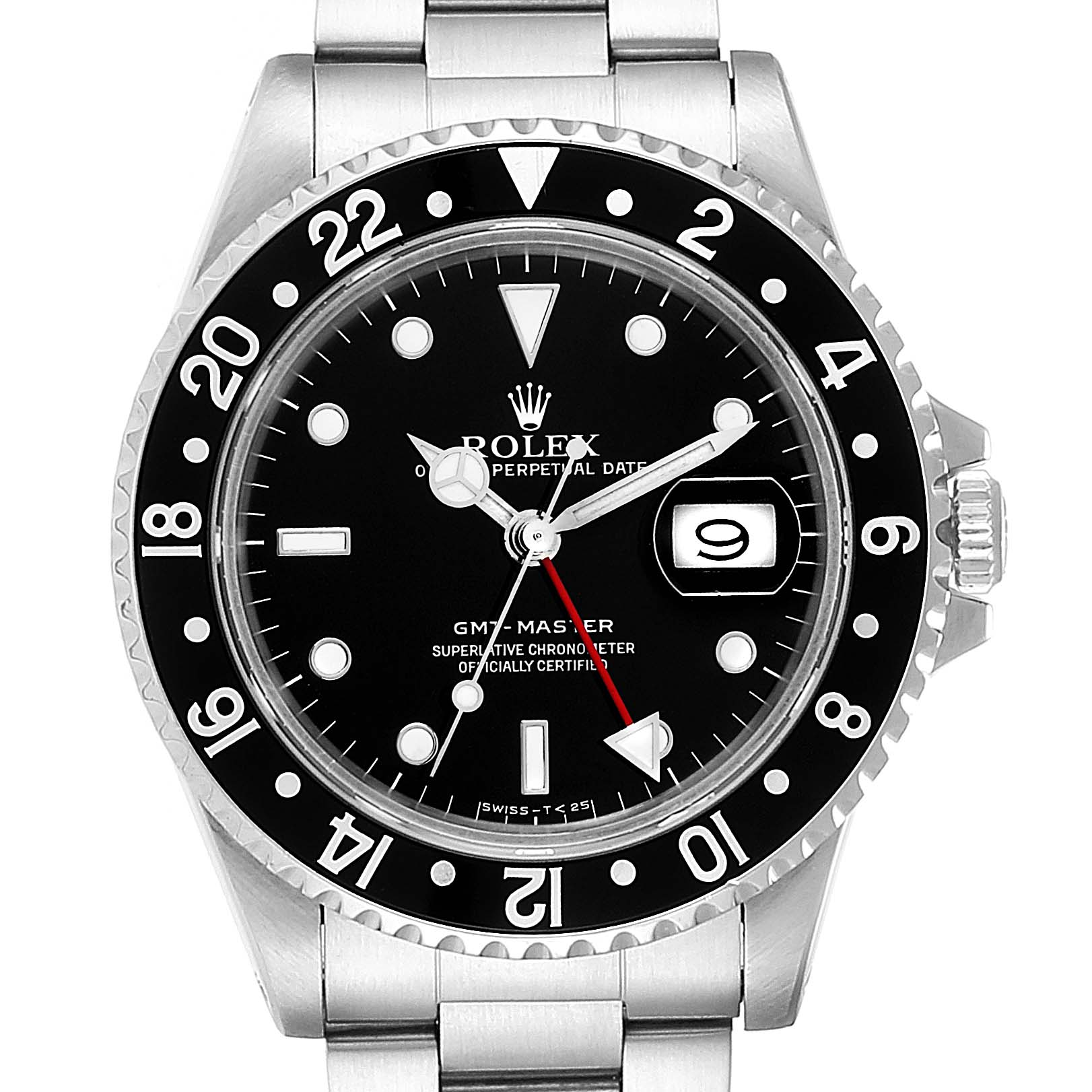 Rolex GMT Master Black Bezel Steel Mens Watch 16700 Box Papers