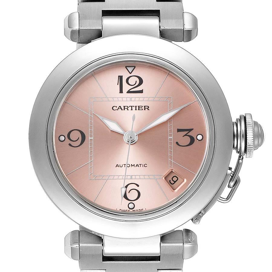 Cartier Pasha C Midsize Pink Dial Automatic Ladies Watch W31075M7 SwissWatchExpo