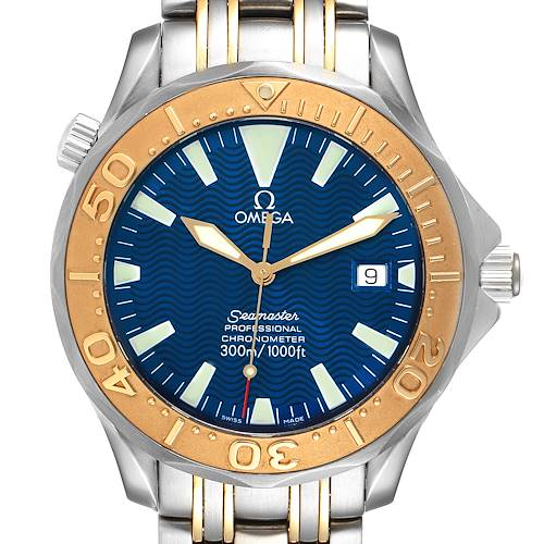 Photo of Omega Seamaster Steel Yellow Gold Automatic Mens Watch 2455.80.00
