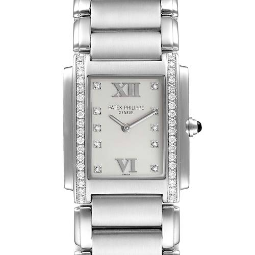 Photo of Patek Philippe Twenty-4 Stainless Steel Diamond Ladies Quartz Watch 4910