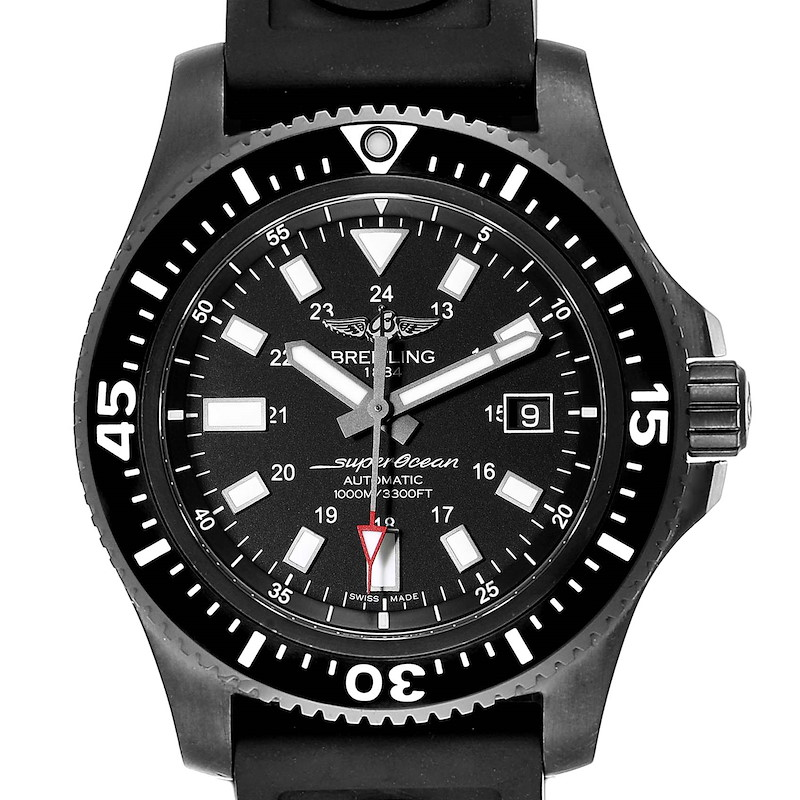 Breitling Superocean 44 Special Blacksteel Mens Watch M17393 Box Papers SwissWatchExpo