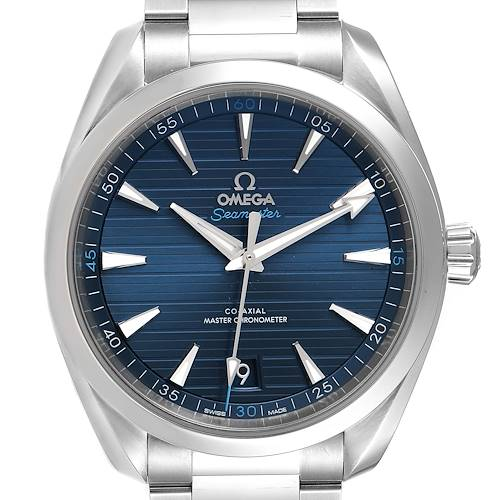 Photo of Omega Seamaster Aqua Terra Blue Dial Watch 220.10.41.21.03.001 Box Card