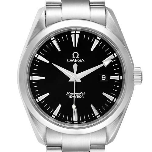 Photo of Omega Seamaster Aqua Terra Mens Large Steel Watch 2517.50.00 Card