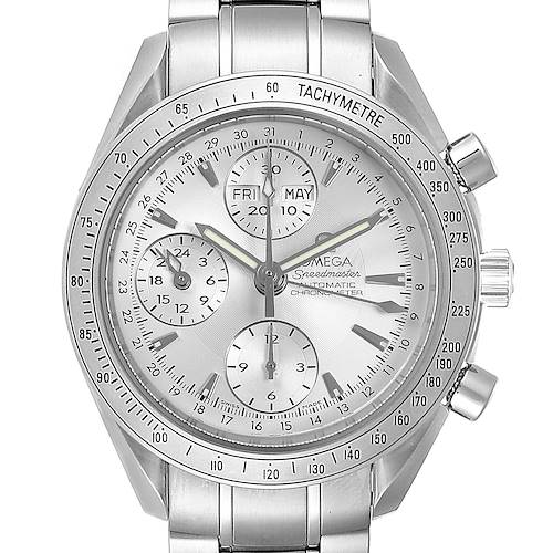 Photo of Omega Speedmaster Day Date Chronograph Silver Dial Mens Watch 3221.30.00
