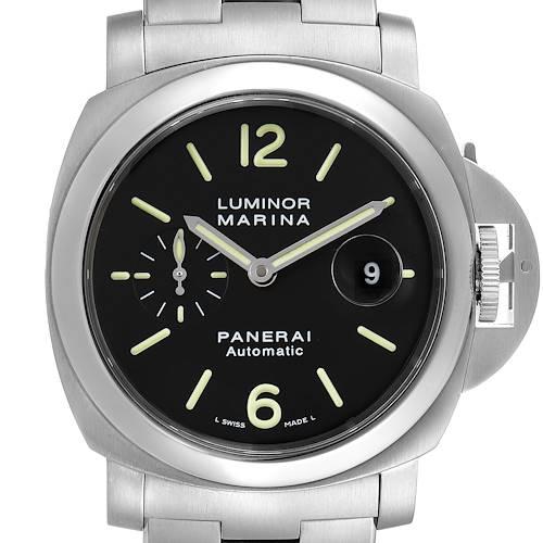 Photo of Panerai Luminor Marina Automatic 44mm Steel Mens Watch PAM00299 Box Papers