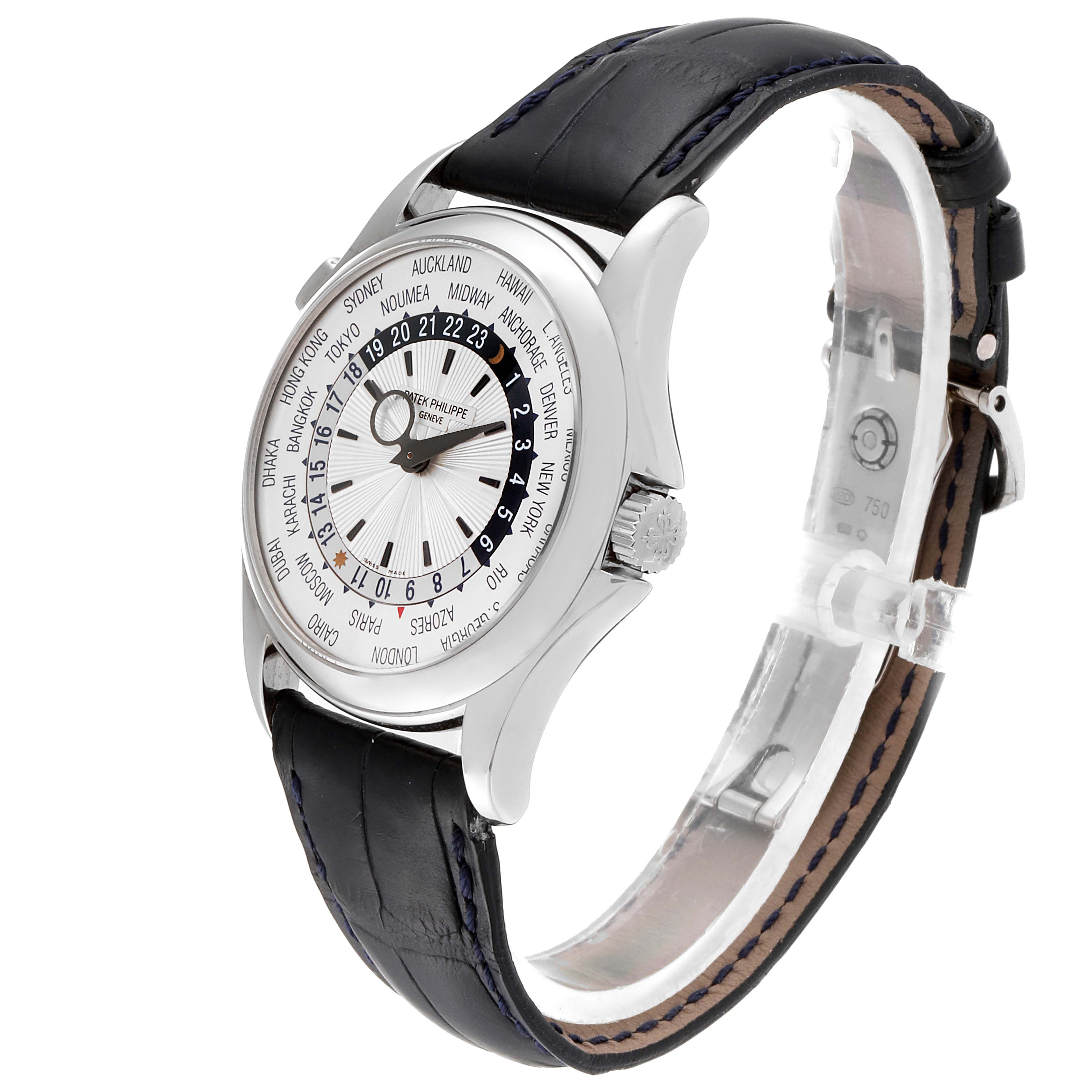 Patek Philippe World Time Complications White Gold Mens Watch 5130 SwissWatchExpo