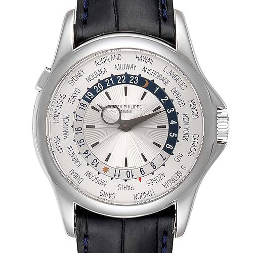 Photo of Patek Philippe World Time Complications White Gold Mens Watch 5130